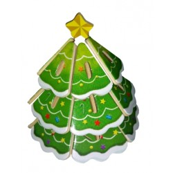C-9791  3D Christmas tree...
