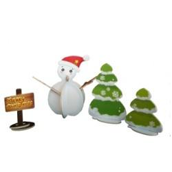 C-9793  3D Snowman puzzle...