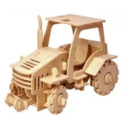 C-9916  Tracteur en bois 3D