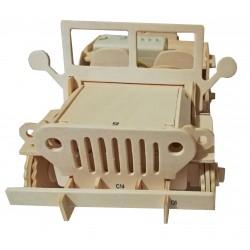 C-9919  Jeep de fusta 3D