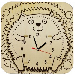 C-9708  Kit urchin wood clock