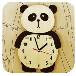 C-9709  Kit panda wooden clock